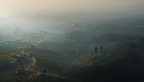 paesaggio vigneto colline valdobbiadene