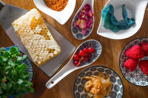 preparazione piatto food photography pia