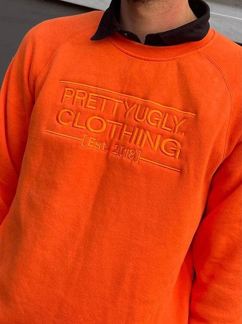 Established - Embroidered Orange Crew