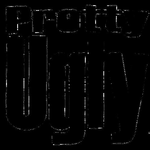 Kids Fat Vinyl - Black Font T Shirt