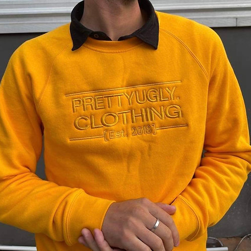 Established - Embroidered Yellow Crew