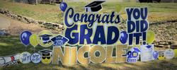 Norwin School District Senior High Graduate Yard Card sign Display