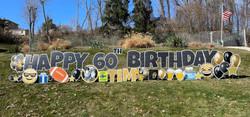 Happy Birthday Yard Card Lawn display
