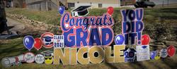 McKeesport Area School District Senior High Graduate Yard Card sign Display