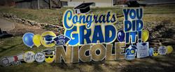 East Allegheny School District Senior High Graduate Yard Card sign Display