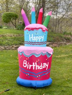 Happy Birthday cake inflatable
