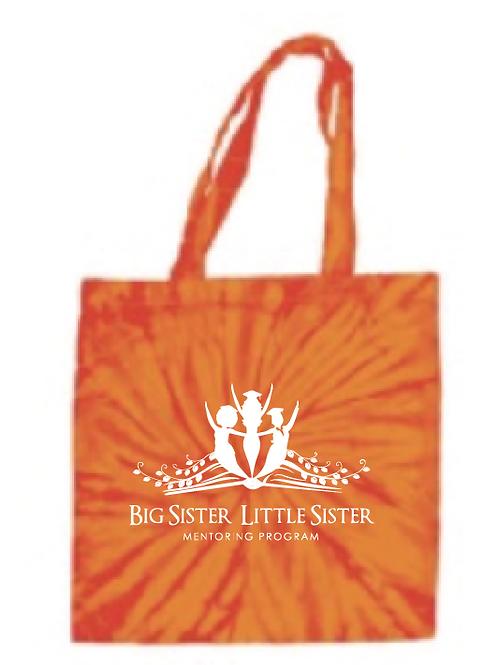 Orange Tie Dye Tote Bag