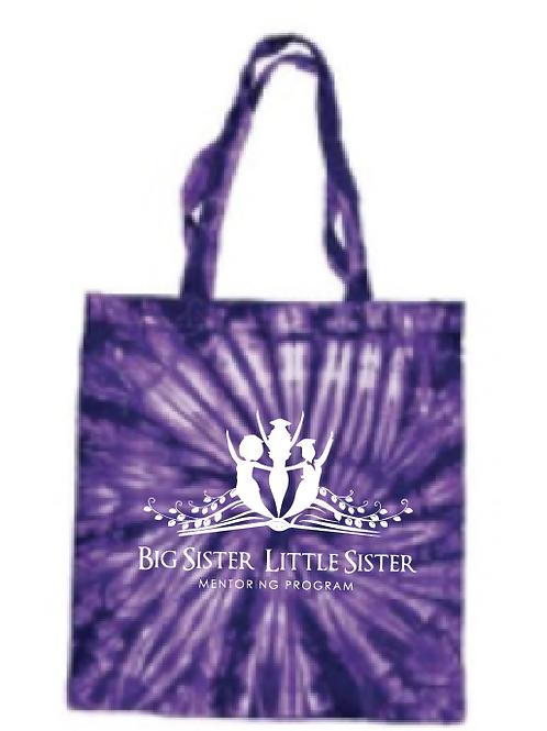 Purple Tie Dye Tote Bag