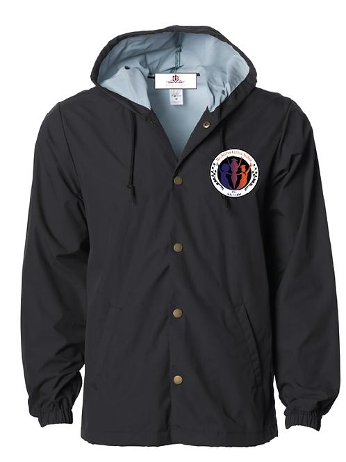 Colorful Logo Patch Windbreaker Jacket