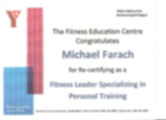 YMCA - Personal Trainer Certification