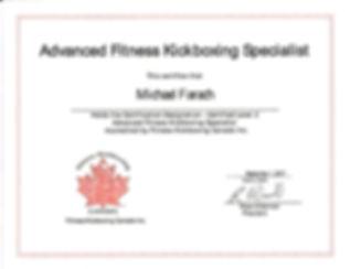 Kickboxing Certification