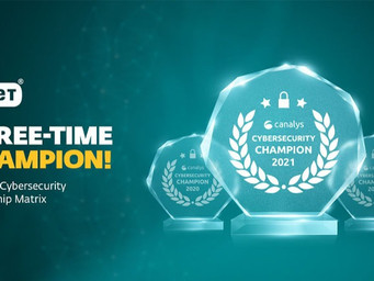 ESET cements its 'Champion' status in the Canalys Global Cybersecurity Leadership Matrix 2021