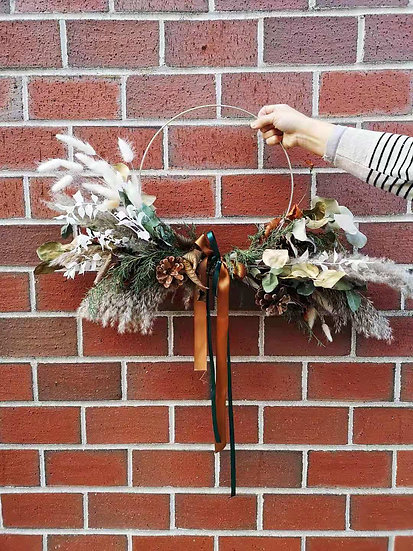 NORDIC  HOOP WREATH