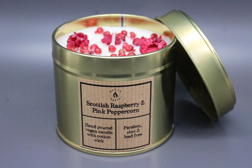 Botanical #6 Peppered Scottish Raspberry Candle Tin