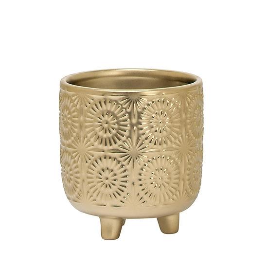 CLARA EMBOSSED MANDALA GOLD
