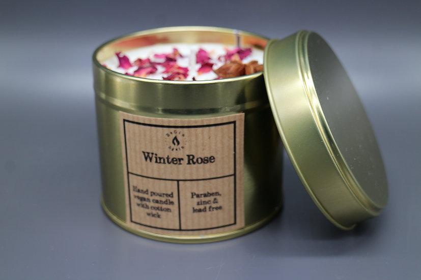 Botanical #1 Winter Rose Candle Tin