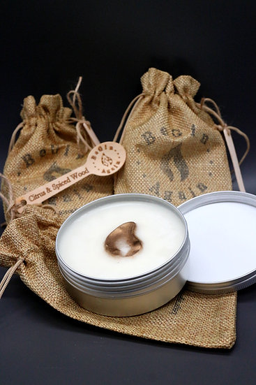 Citrus & Spiced Wood Wax Melt Tin & Spoon