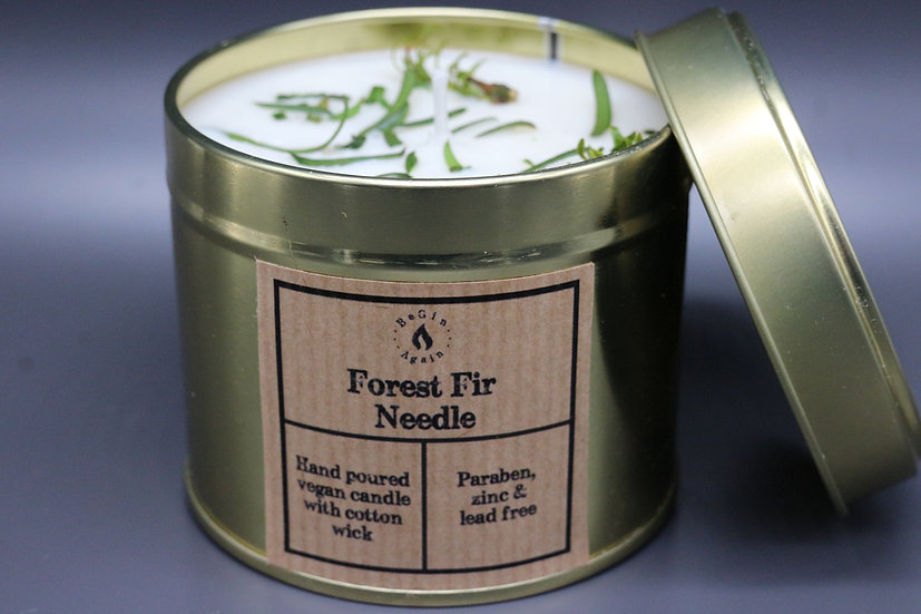 Botanical #8 Forest Fir Needle Candle Tin