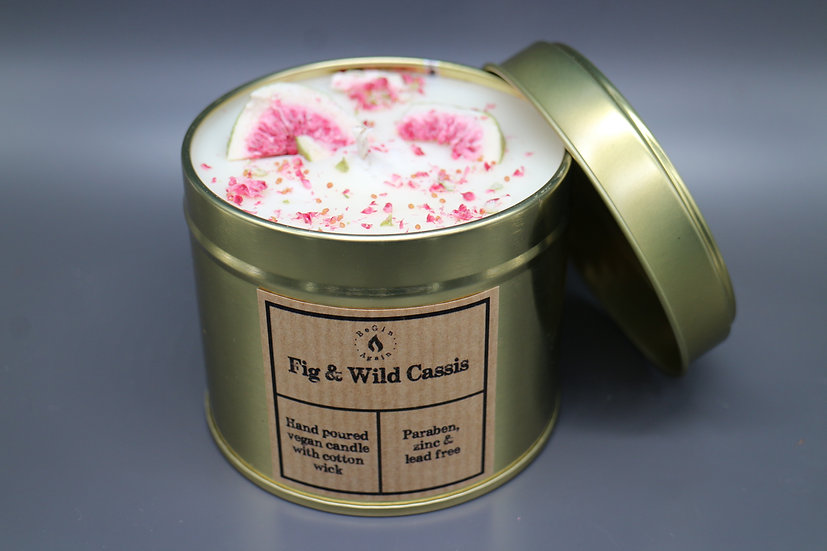 Botanical #2 Fig & Wild Cassis Candle Tin
