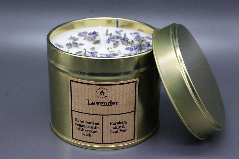 Botanical #3 Lavender Candle Tin