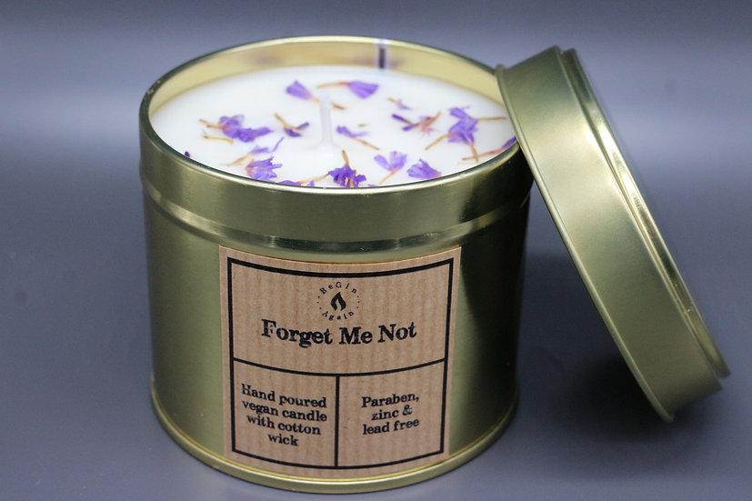 Botanical #7 Forget Me Not Candle Tin