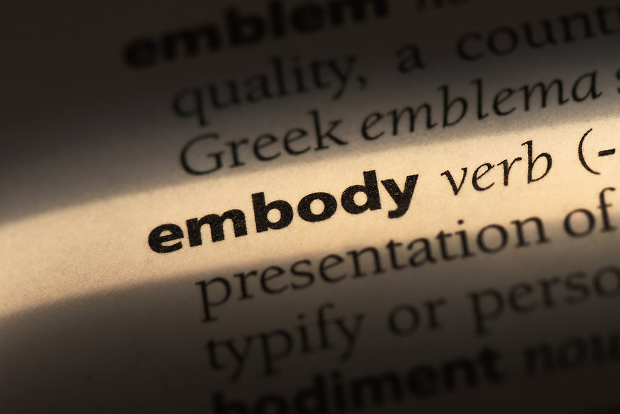 embody word in a dictionary. embody conc