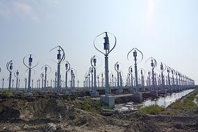 vertical axis wind turbine farm