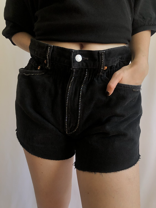 Reworked black second hand Levi's jean - S