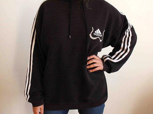 Embroidered black Adidas sweatshirt