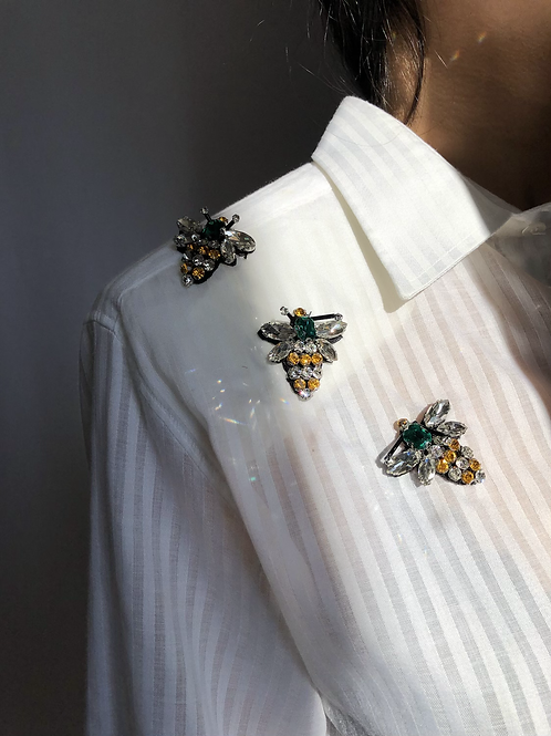Reworked whitevintage authentic Dior men shirt with white stripes