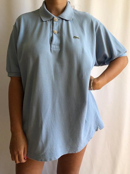 Reworked light blue second hand Lacoste t-shirt - XL