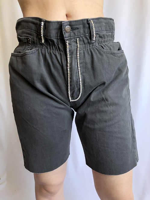 Reworked grey second hand Levi's jean - S/M