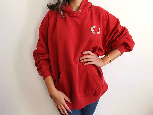 Embroidered red Nike sweatshirt