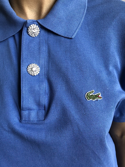 Reworked blue second hand Lacoste t-shirt - XXL