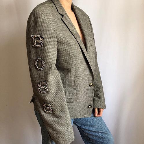 Reworked brown vintage authentic BOSS blazer