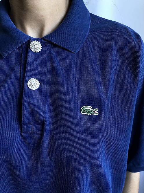 Reworked blue second hand Lacoste t-shirt - XXXL