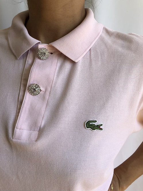 Reworked pink second hand Lacoste t-shirt - L