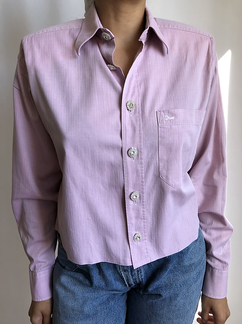 Reworked light purple vintage authentic Dior men shirt