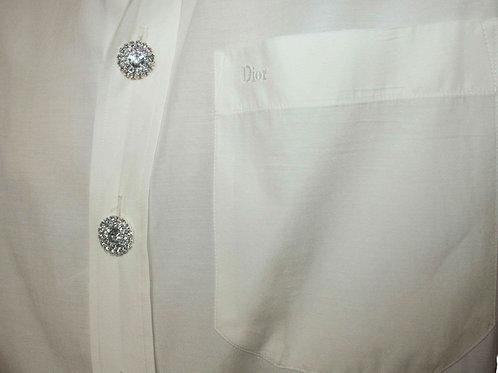 Reworked white vintage authentic Dior men shirt