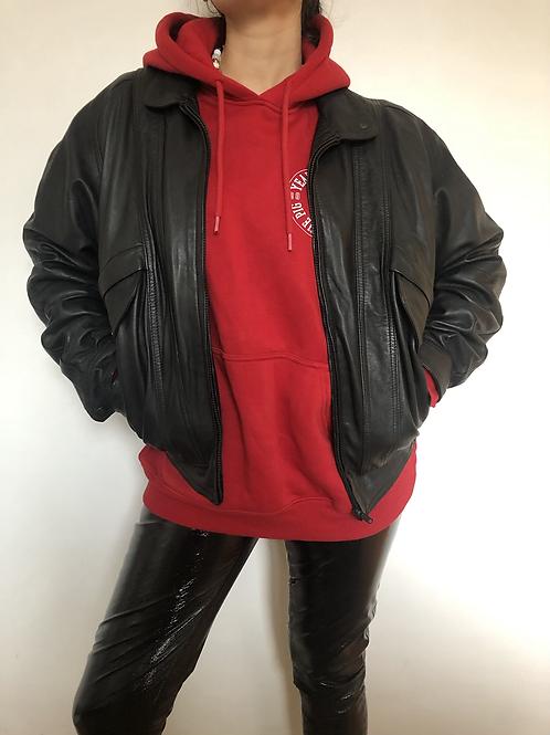 Vintage black aviator jacket