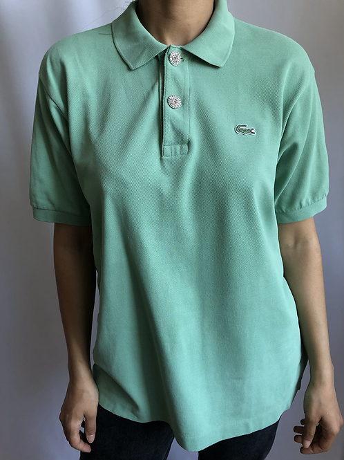 Reworked green second hand Lacoste t-shirt - L