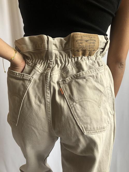 Vintage 881 beige Levi's Jean