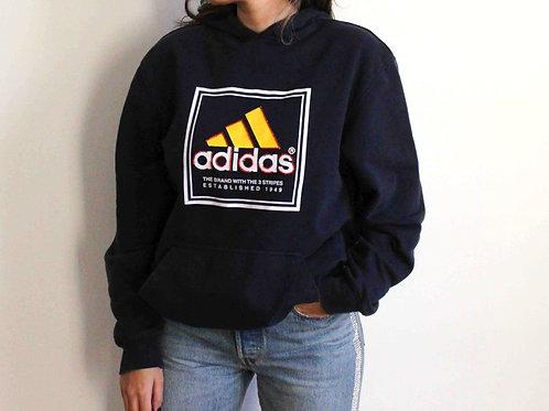 Embroidered navy blue Adidas sweatshirt