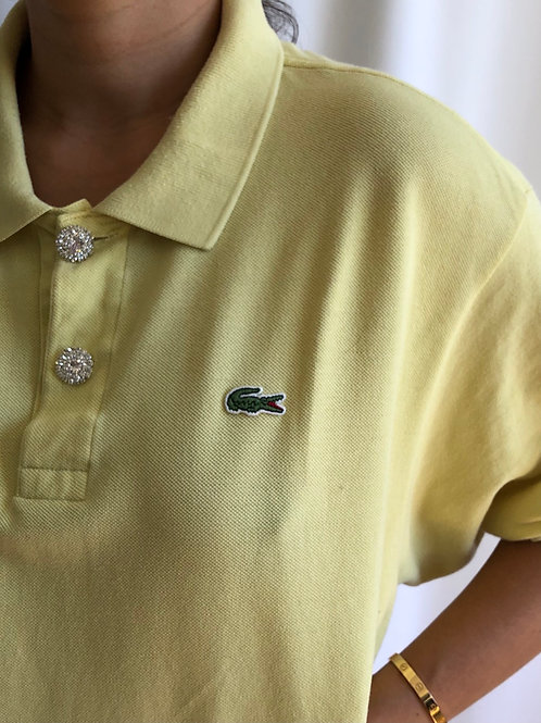 Reworked yellow second hand Lacoste t-shirt - XXXL