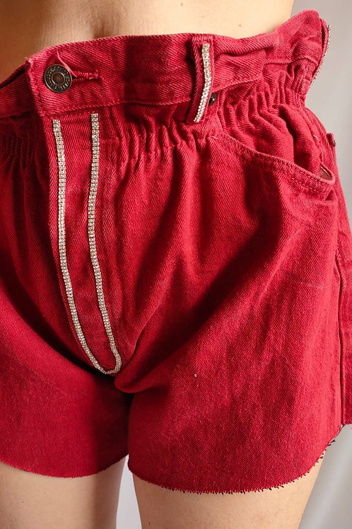 Reworked red second hand Levi's jean - S/M