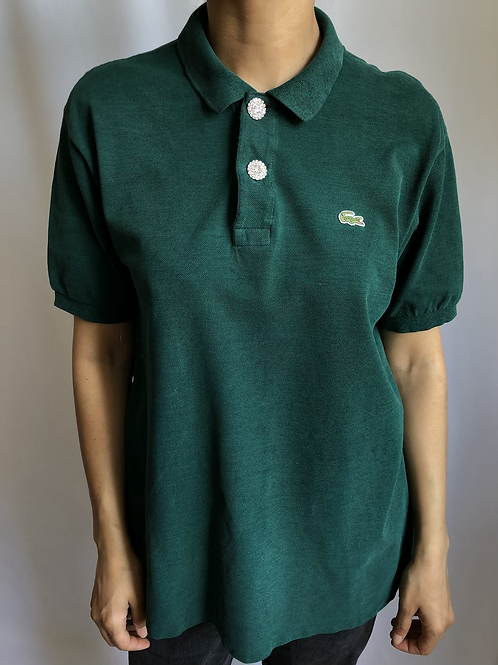 Reworked green second hand Lacoste t-shirt - XL