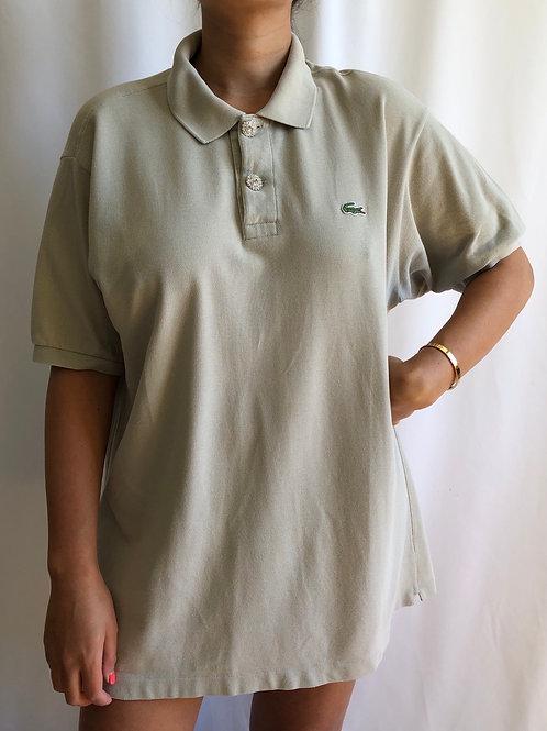 Reworked beige second hand Lacoste t-shirt - XL