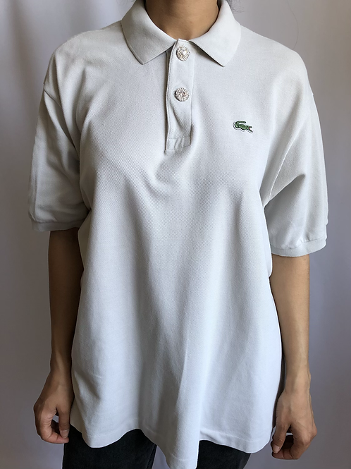 Reworked creme second hand Lacoste t-shirt - XXL