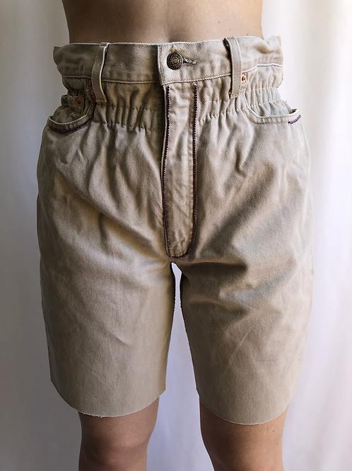 Reworked beige second hand Levi's jean - S/M