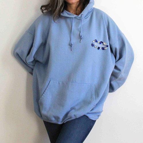 Embroidered light blue Champion sweatshirt